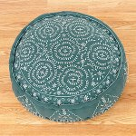Porcelain&jade round embroidered floor pillow $50